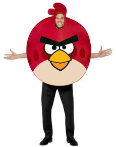 Fato de Angry Birds vermelho para adulto