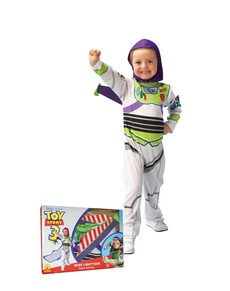 Fato de Buzz Lightyear Toy Story para menino em caixa