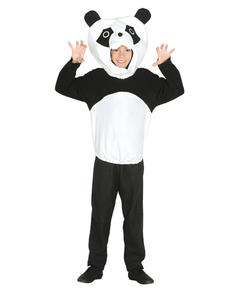Fato de urso panda para menino